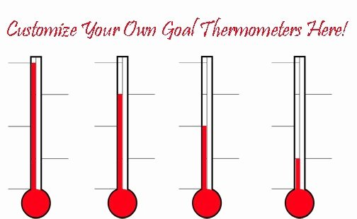 Free Editable thermometer Template Lovely Goal thermometers Sales Goal thermometer