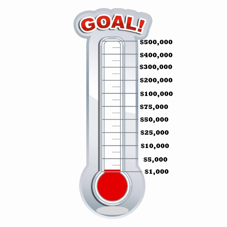 Free Editable thermometer Template Unique Fundraising thermometer Template