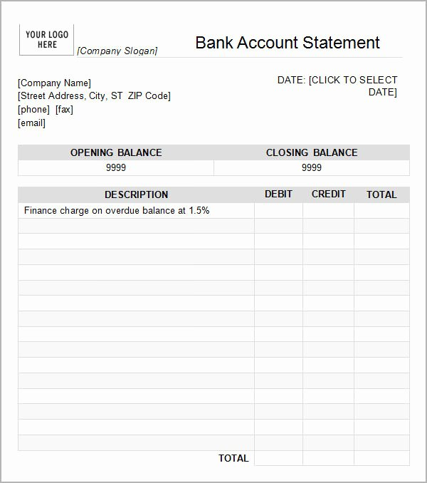 Free Fake Bank Statement Elegant Bank Statement Template 13 Download Free Documents In