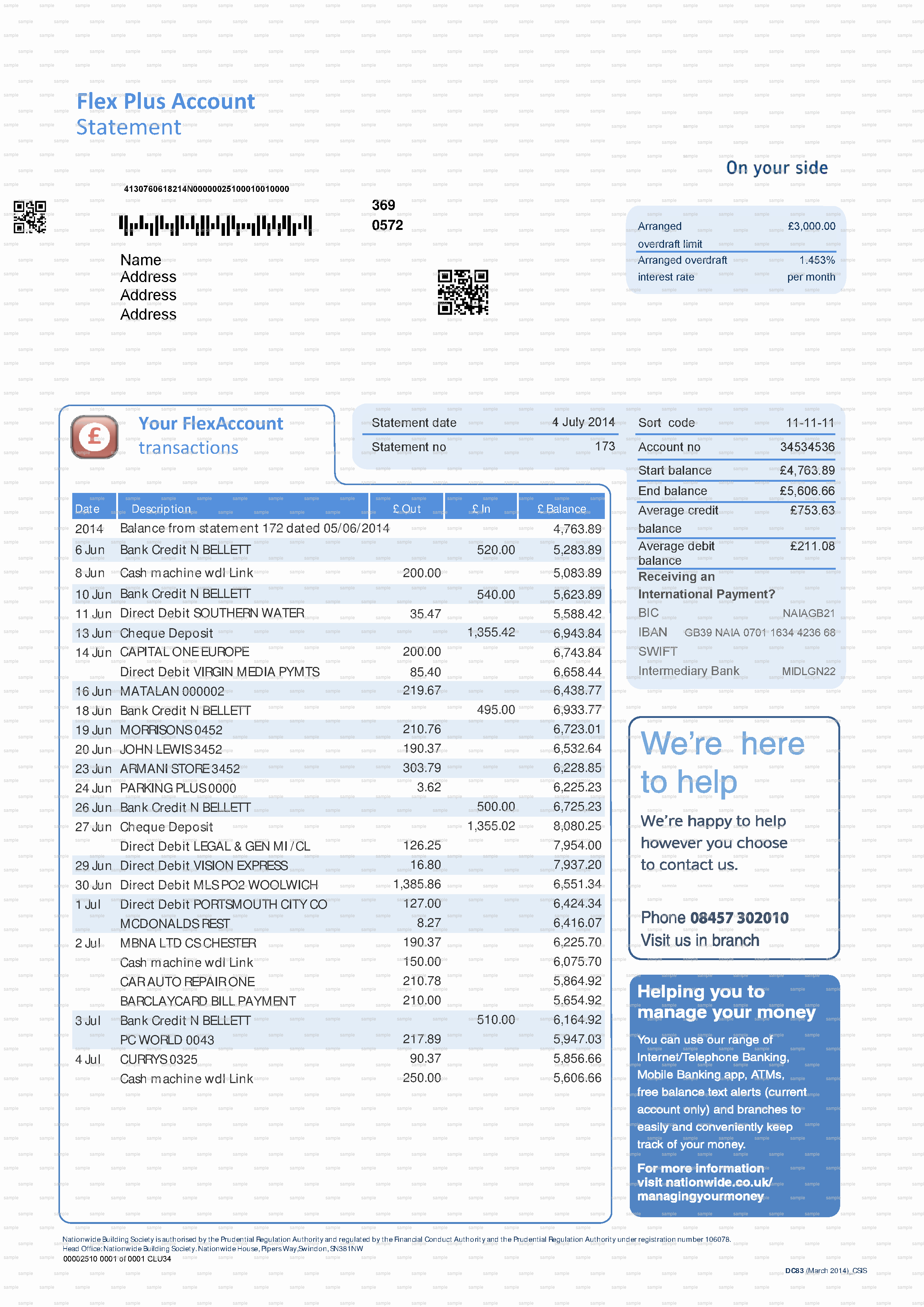Free Fake Bank Statement Lovely Example Replacement Documents & Sample Letters