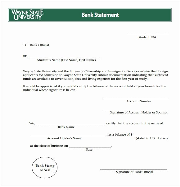 Free Fake Bank Statement Template Beautiful Bank Statement 9 Free Samples Examples format