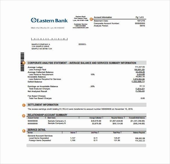 Free Fake Bank Statements Templates Elegant Sample Bank Statement 12 Documents In Pdf Word Excel