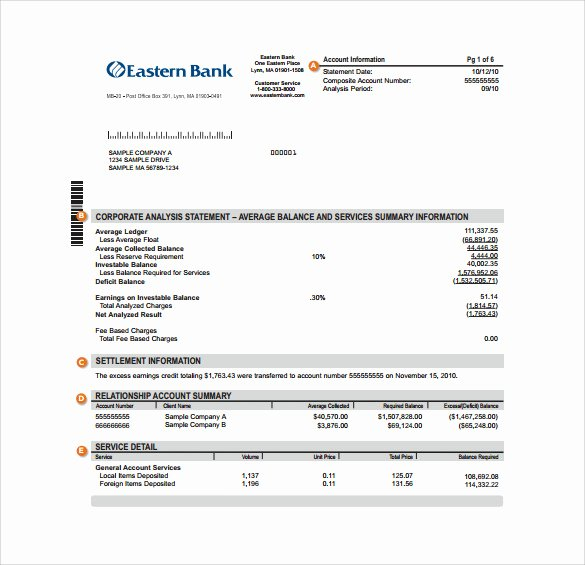 Free Fake Bank Statements Templates Unique Sample Bank Statement 19 Documents In Pdf Word Excel