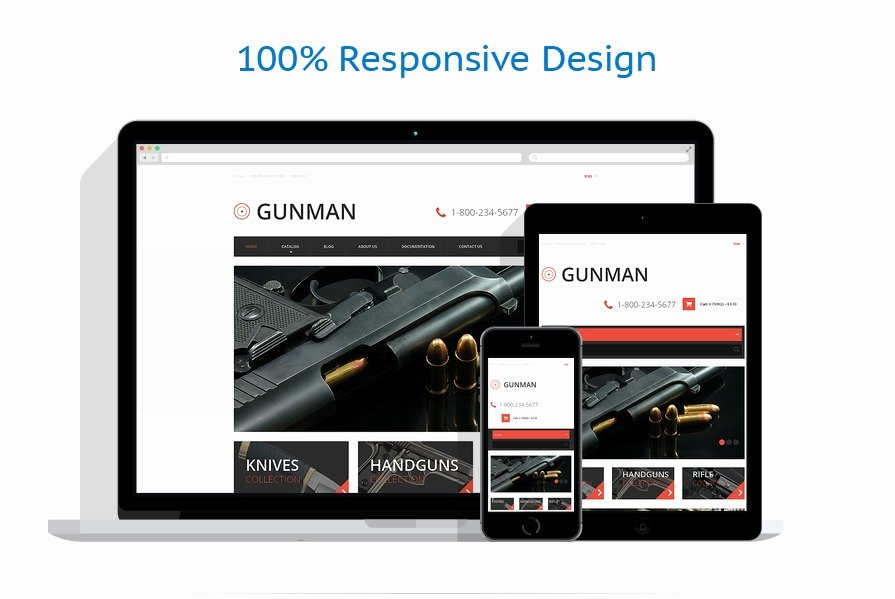 Free Firearms Website Templates Best Of Gun Shop Responsive Shopify theme