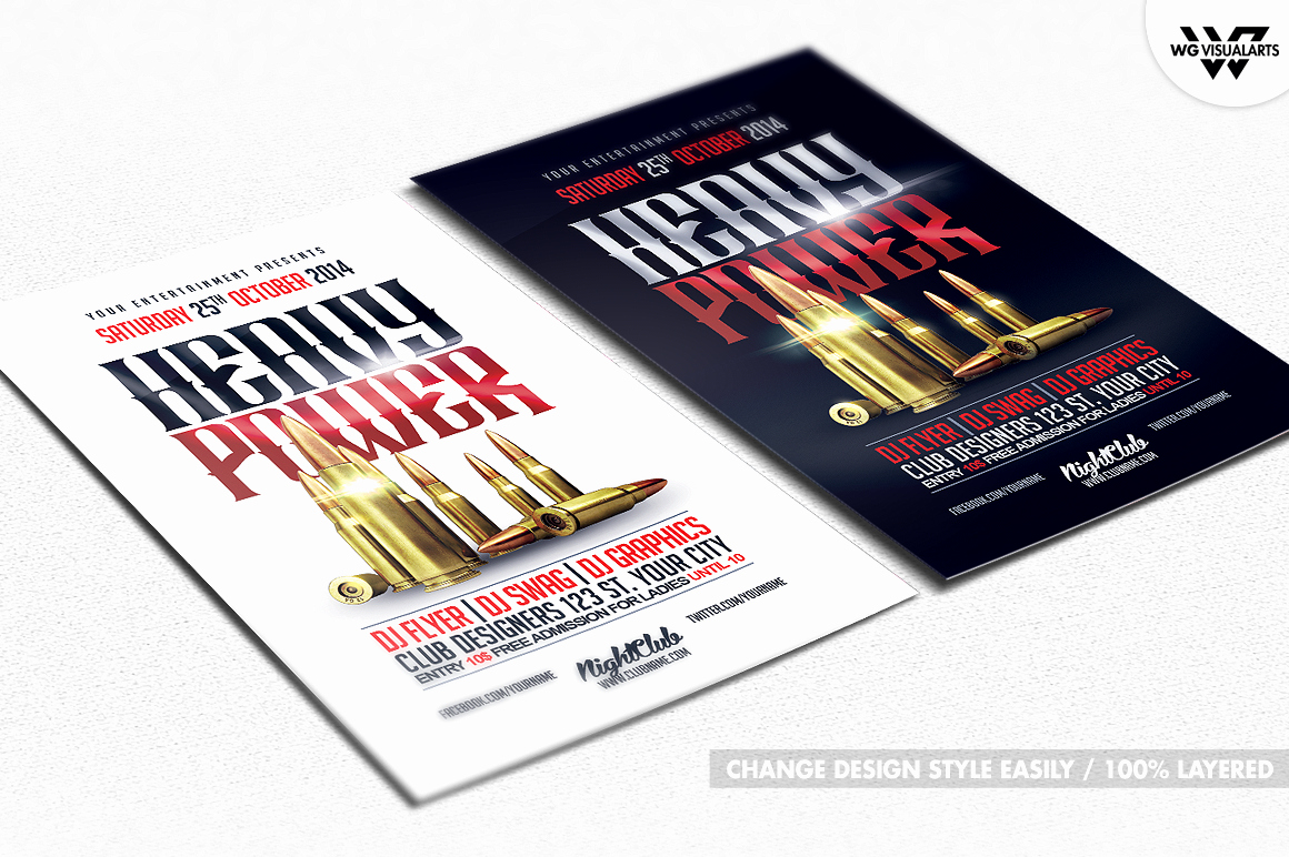Free Firearms Website Templates Fresh Gun Bullets Flyer Template Flyer Templates On Creative