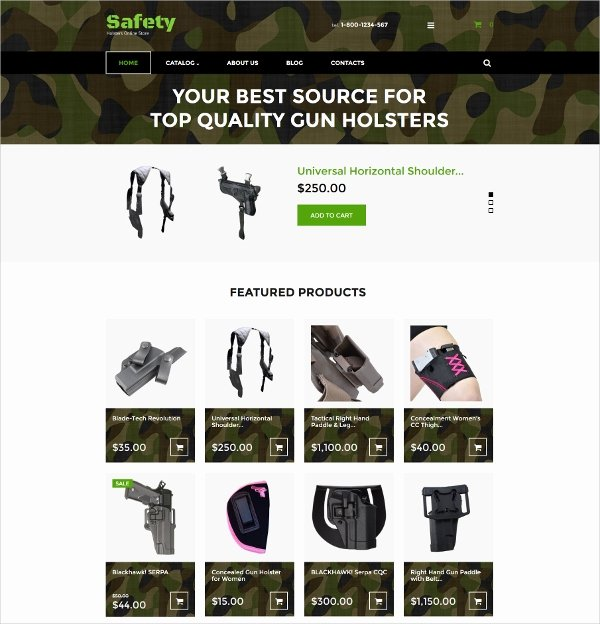 Free Firearms Website Templates Luxury Virtuemart Shop Website Templates & themes