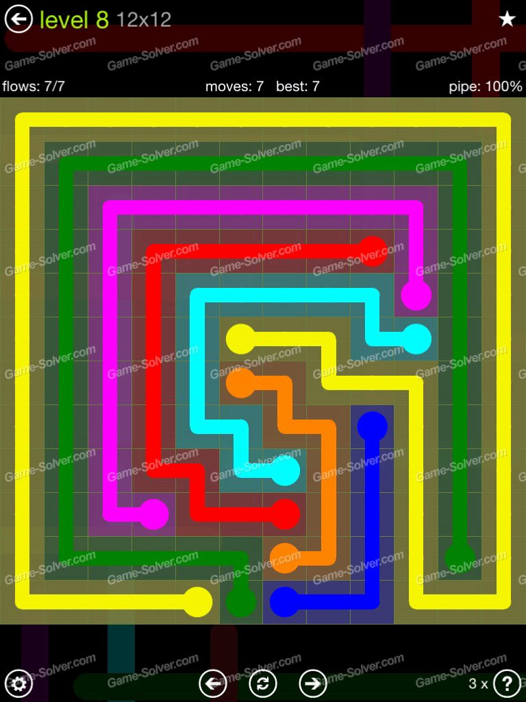 Free Flow Extreme Pack 2 12x12 Level 9 Awesome Flow Extreme Pack 12×12 Level 8 Game solver