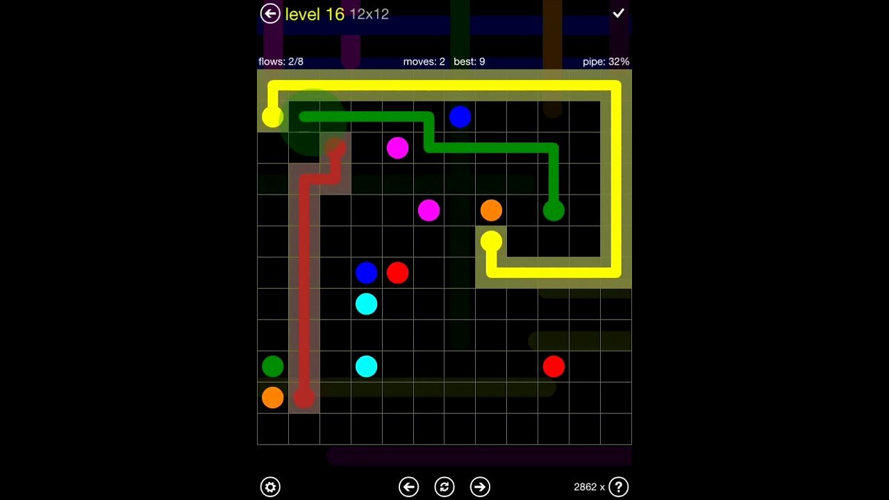 Free Flow Extreme Pack 2 12x12 Level 9 Best Of Flow Free Extreme Pack 2 12x12 Level 16