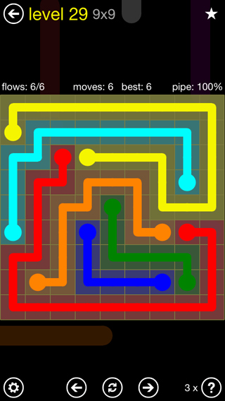 Free Flow Extreme Pack 2 12x12 Level 9 Inspirational Flow Free solutions Flow Extreme2 Pack Set 9x9 Level 29