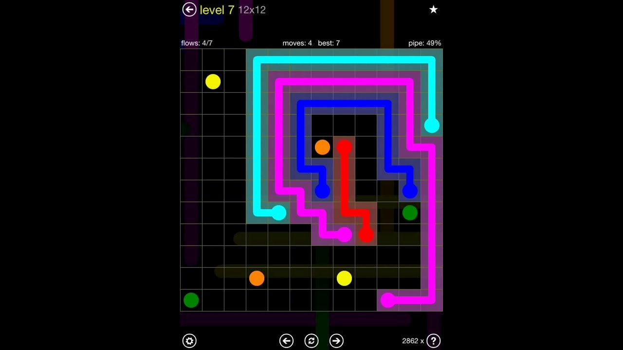 Free Flow Extreme Pack 2 12x12 Level 9 Lovely Flow Free Extreme Pack 2 12x12 Level 7