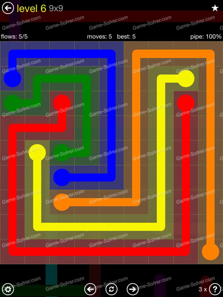 Free Flow Extreme Pack 2 12x12 Level 9 Luxury Flow Extreme Pack 2 9×9 Level 6 Game solver