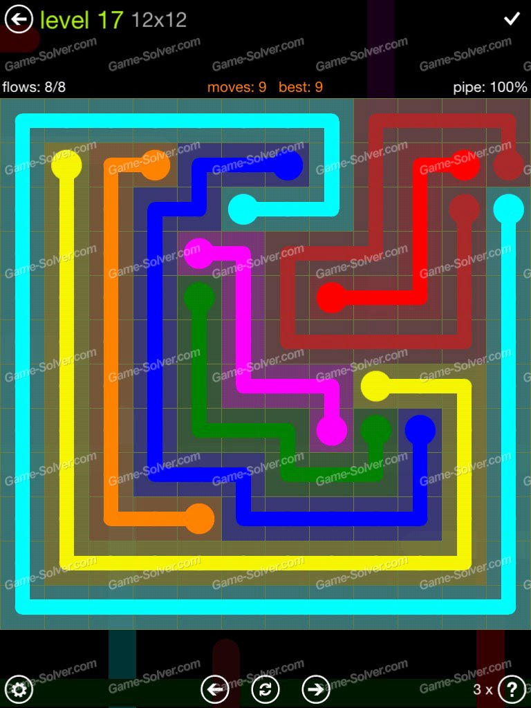 Free Flow Extreme Pack 2 12x12 Level 9 New Flow Extreme Pack 12×12 Level 17 Game solver