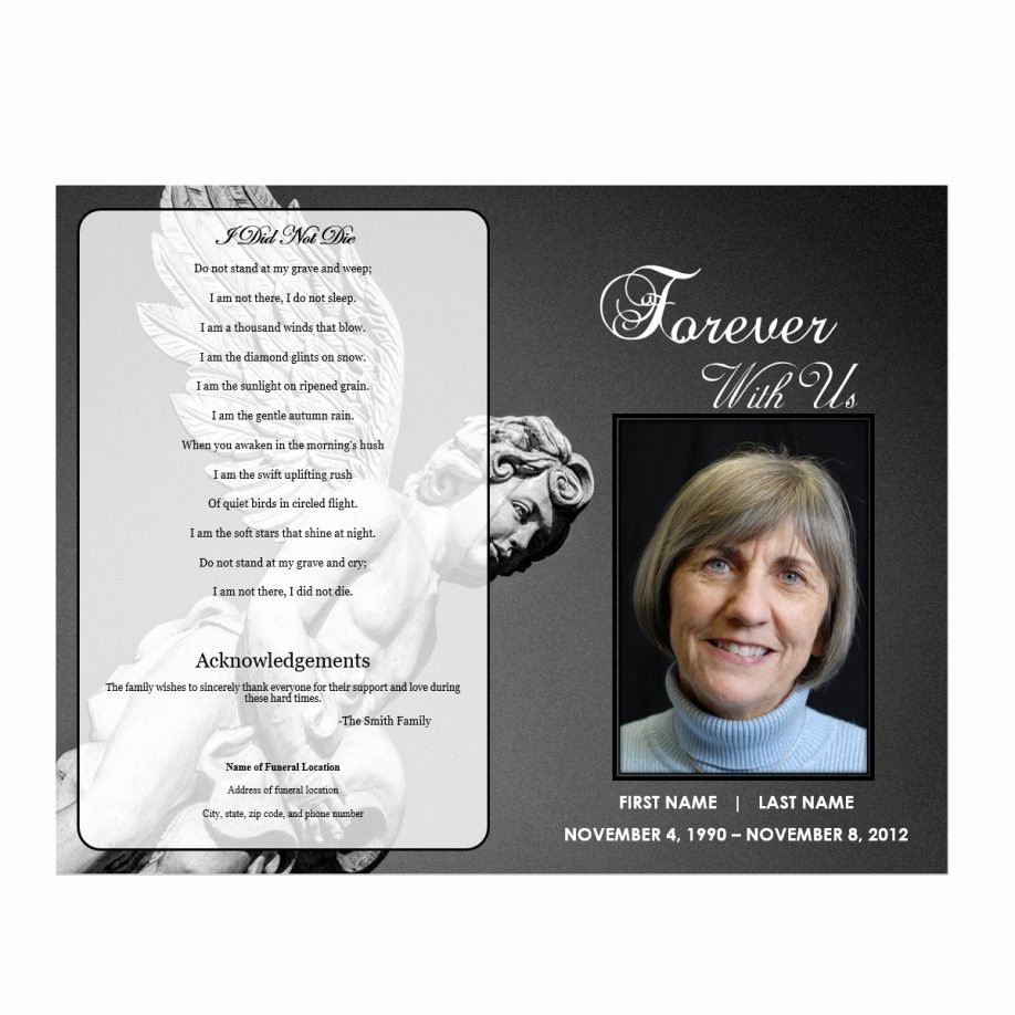Free Funeral Program Template Word Awesome Obituary Program Template Letter Examples Funeral Samples