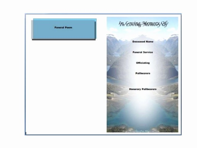 Free Funeral Program Template Word Beautiful Free Printable Funeral Program Template for Word to Download