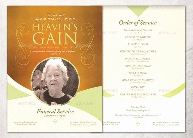 Free Funeral Program Template Word Elegant 21 Free Free Funeral Program Template Word Excel formats
