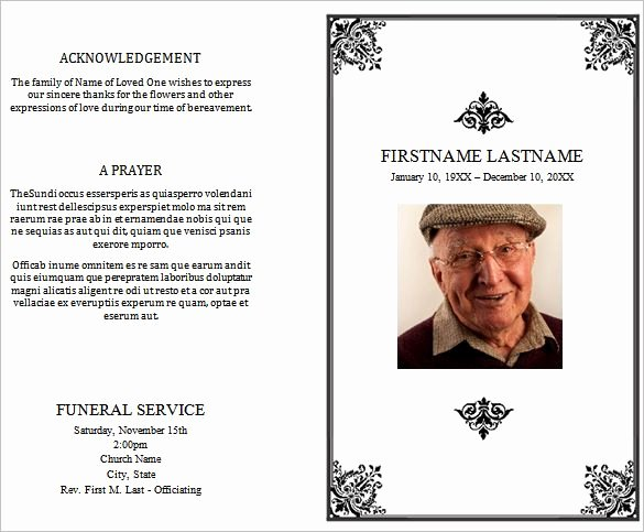 Free Funeral Program Template Word Elegant 31 Funeral Program Templates Free Word Pdf Psd