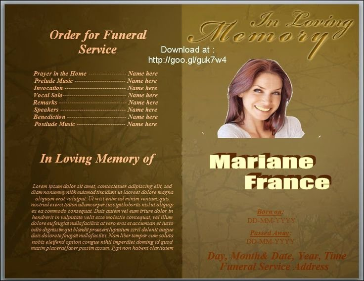 Free Funeral Program Template Word Fresh 79 Best Funeral Program Templates for Ms Word to Download