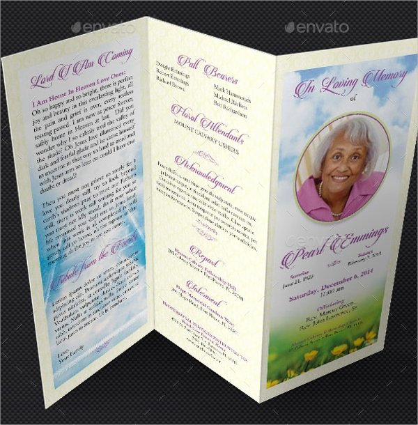 Free Funeral Program Template Word Luxury 14 Funeral Memorial Program Templates Psd Ai Vector