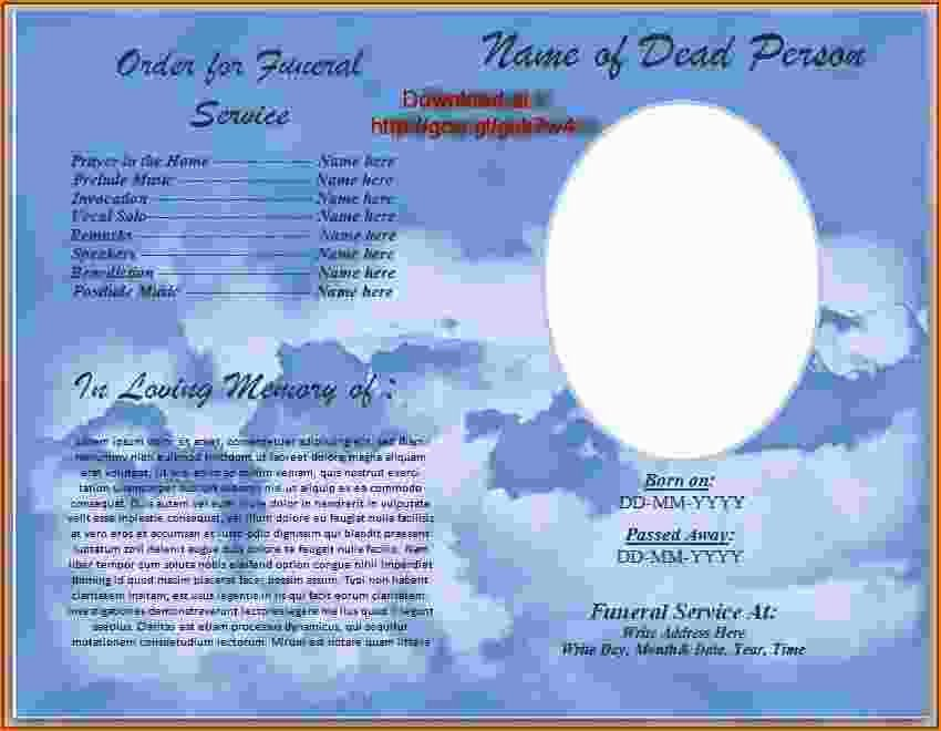 Free Funeral Program Template Word Luxury 4 Funeral Program Template Word