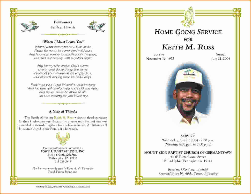 Free Funeral Program Template Word Unique 5 Free Funeral Program Template for Word