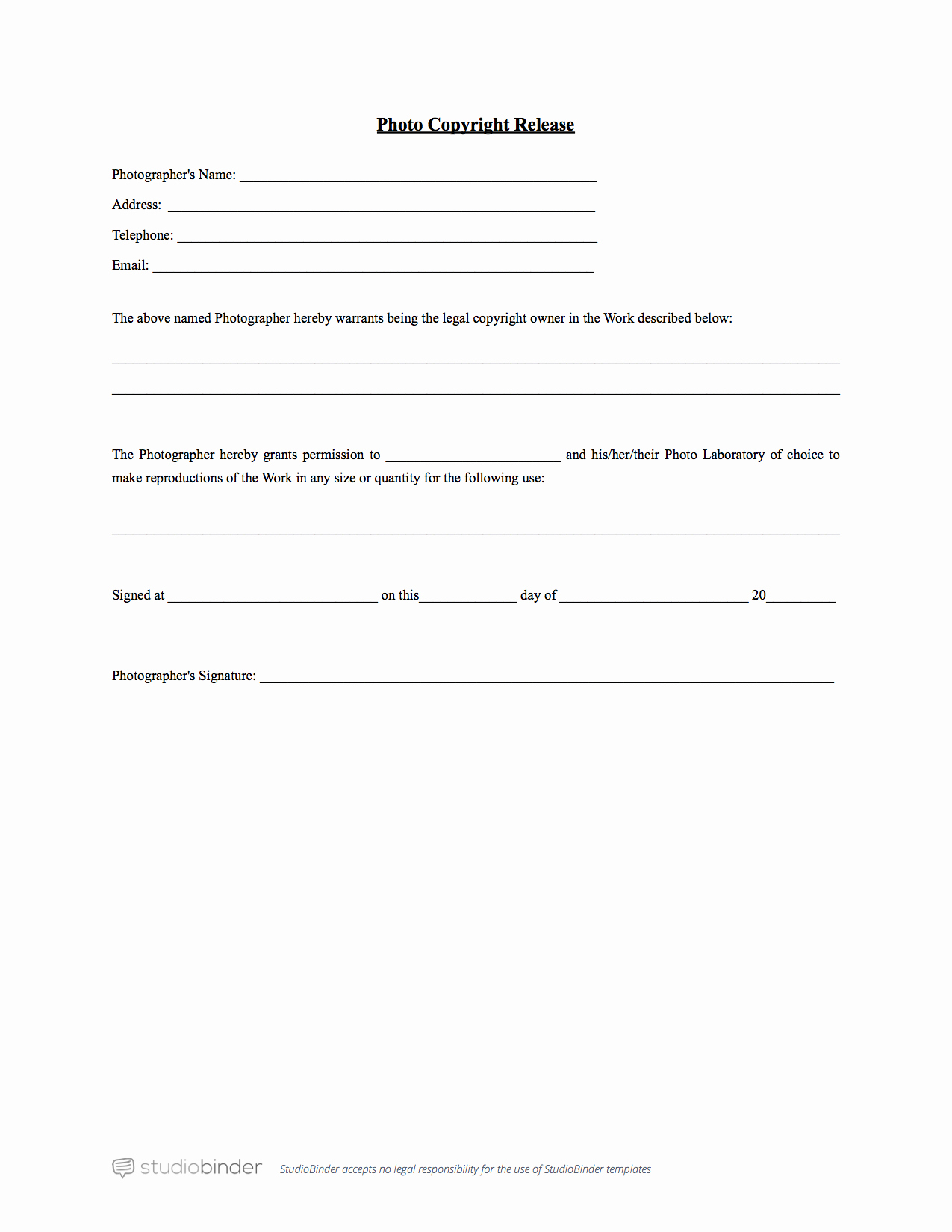 Free General Release form Template Awesome why You Should Have A Release form Template