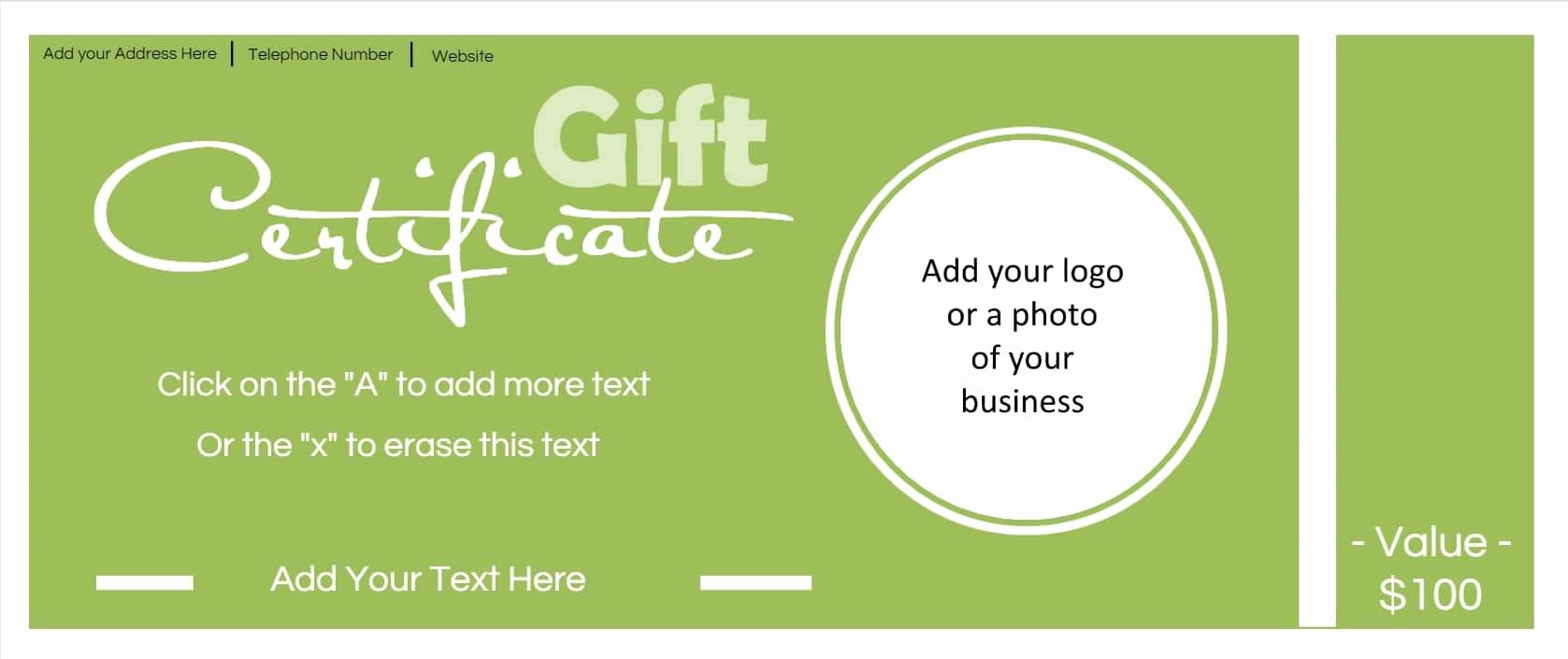 Free Gift Card Templates Beautiful Gift Certificate Template with Logo