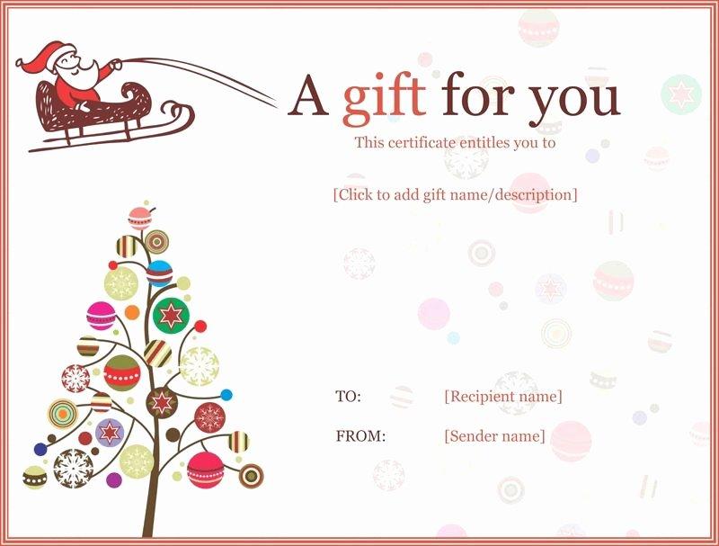 Free Gift Card Templates Best Of Christmas Gift Certificate Templates Printable