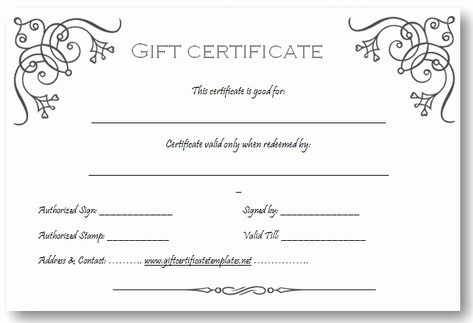 Free Gift Card Templates Elegant Art Business T Certificate Template