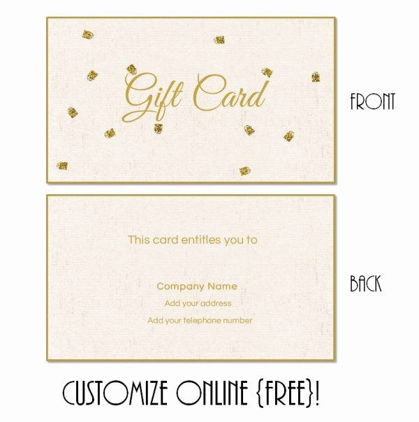 Free Gift Card Templates Fresh Free Printable T Card Templates that Can Be Customized