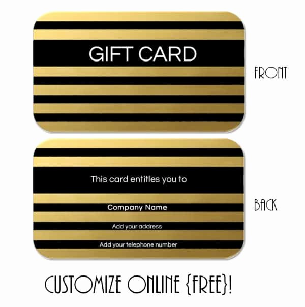 Free Gift Card Templates Fresh Gift Card Template