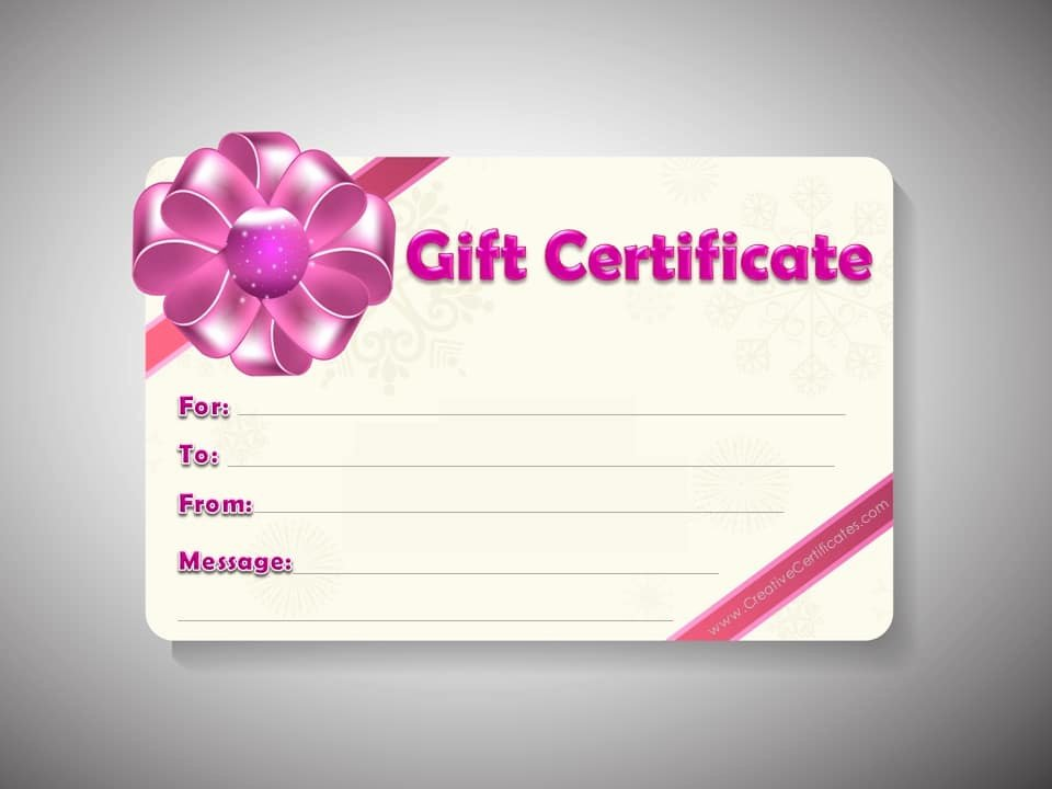 Free Gift Card Templates Inspirational Free Gift Certificate Template Customizable
