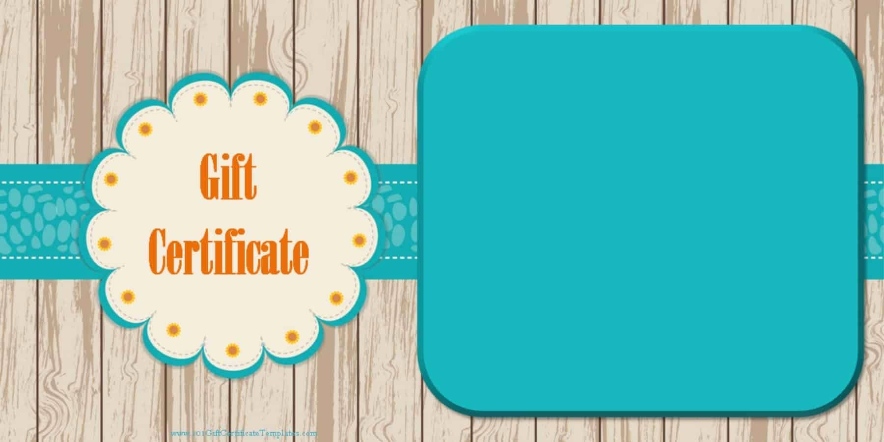 Free Gift Card Templates Inspirational Printable Gift Certificate Templates