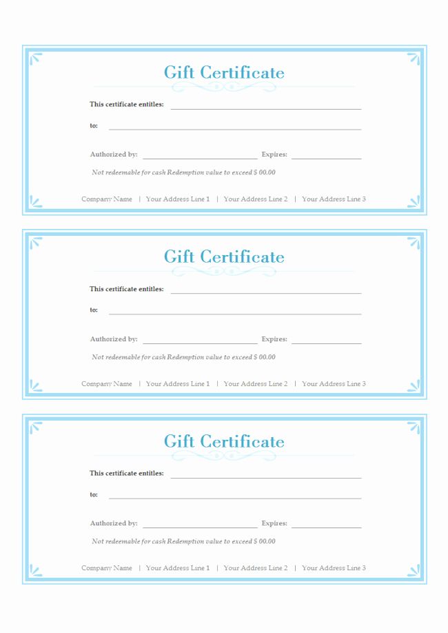 Free Gift Card Templates Inspirational Simple Gift Certificate
