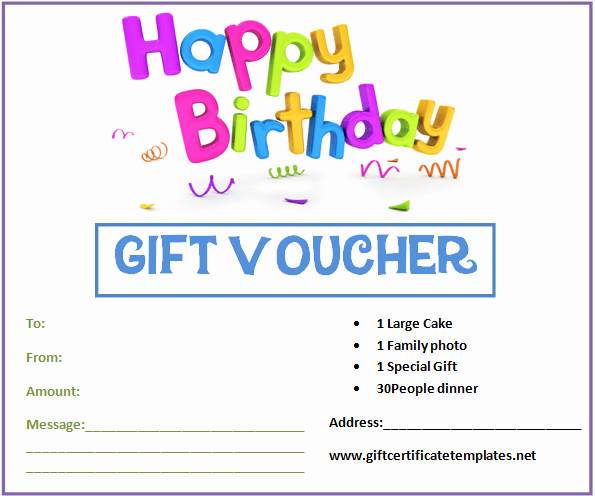 Free Gift Card Templates Luxury Birthday Gift Certificate Templates by