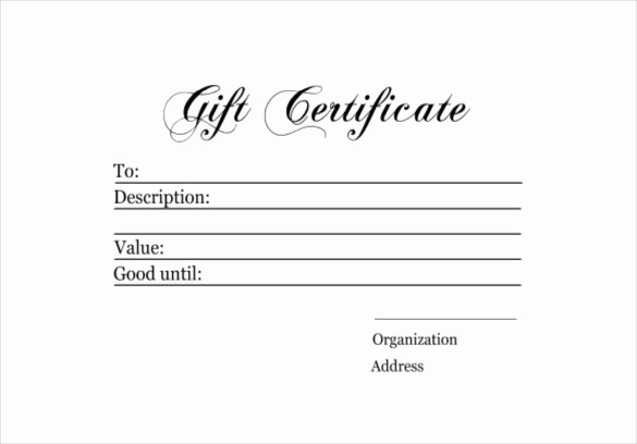 Free Gift Card Templates Unique 6 Homemade Gift Certificate Templates Doc Pdf