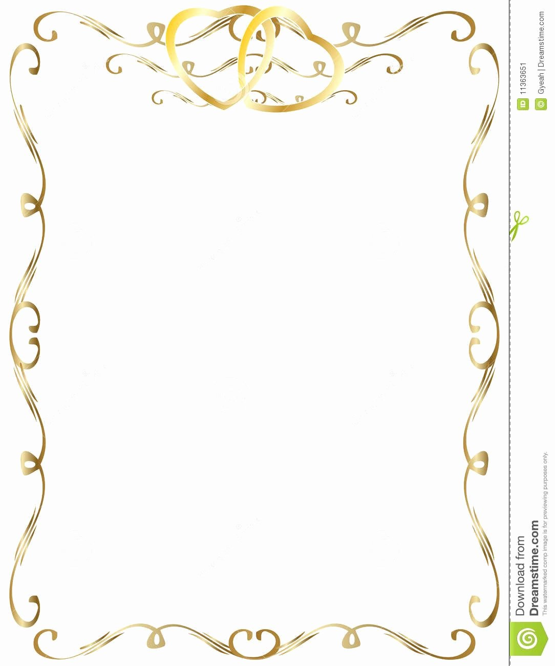 Free Gold Border Templates Awesome 50th Wedding Anniversary Clip Art Borders