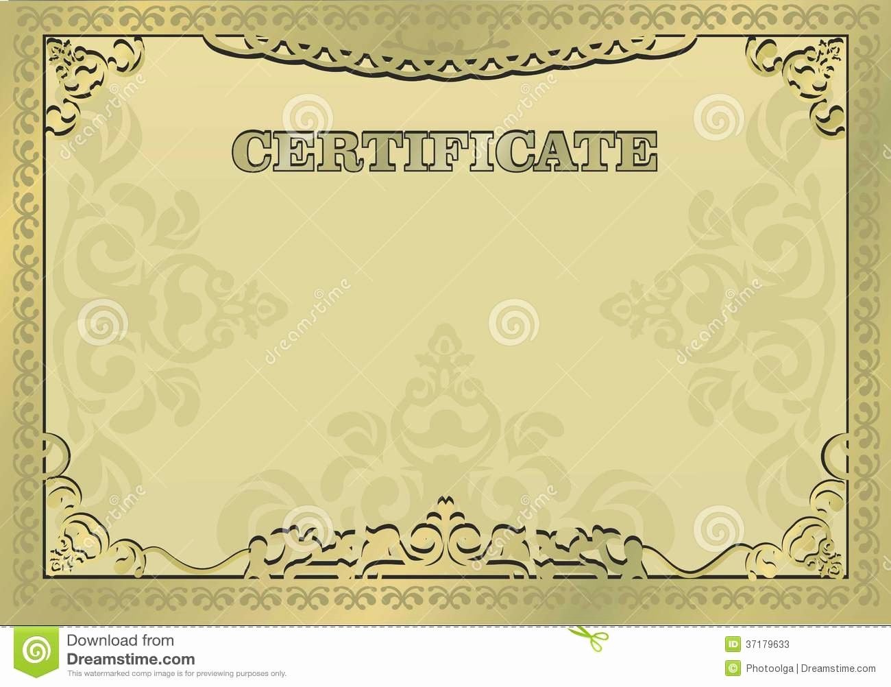 Free Gold Border Templates Awesome Gold Certificate ornamental Gold Border Eps 10 Stock