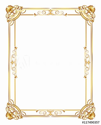 Free Gold Border Templates Awesome Gold Decorative Horizontal Floral Elements Corners
