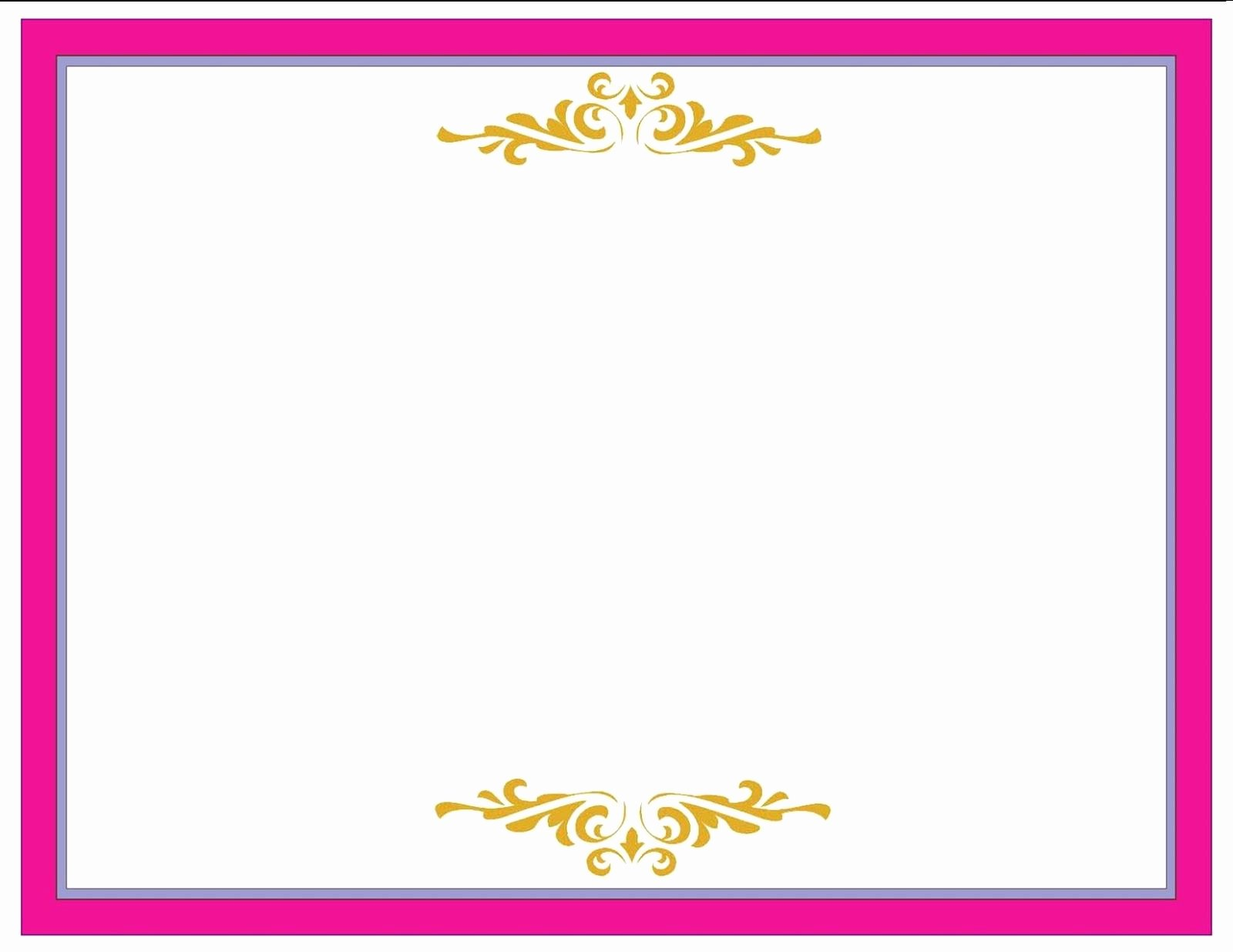 Free Gold Border Templates Elegant for Pink Borders and Frames