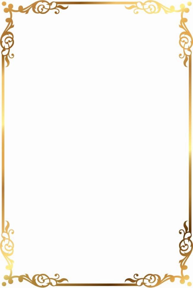 Free Gold Border Templates Elegant Vector Gold Pattern Frame Vector Golden Pattern Png and