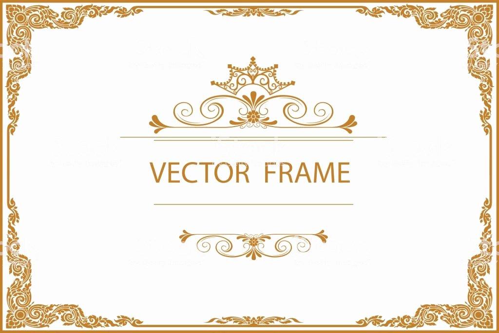 Free Gold Border Templates Fresh Gold Border Design Frame Template Certificate
