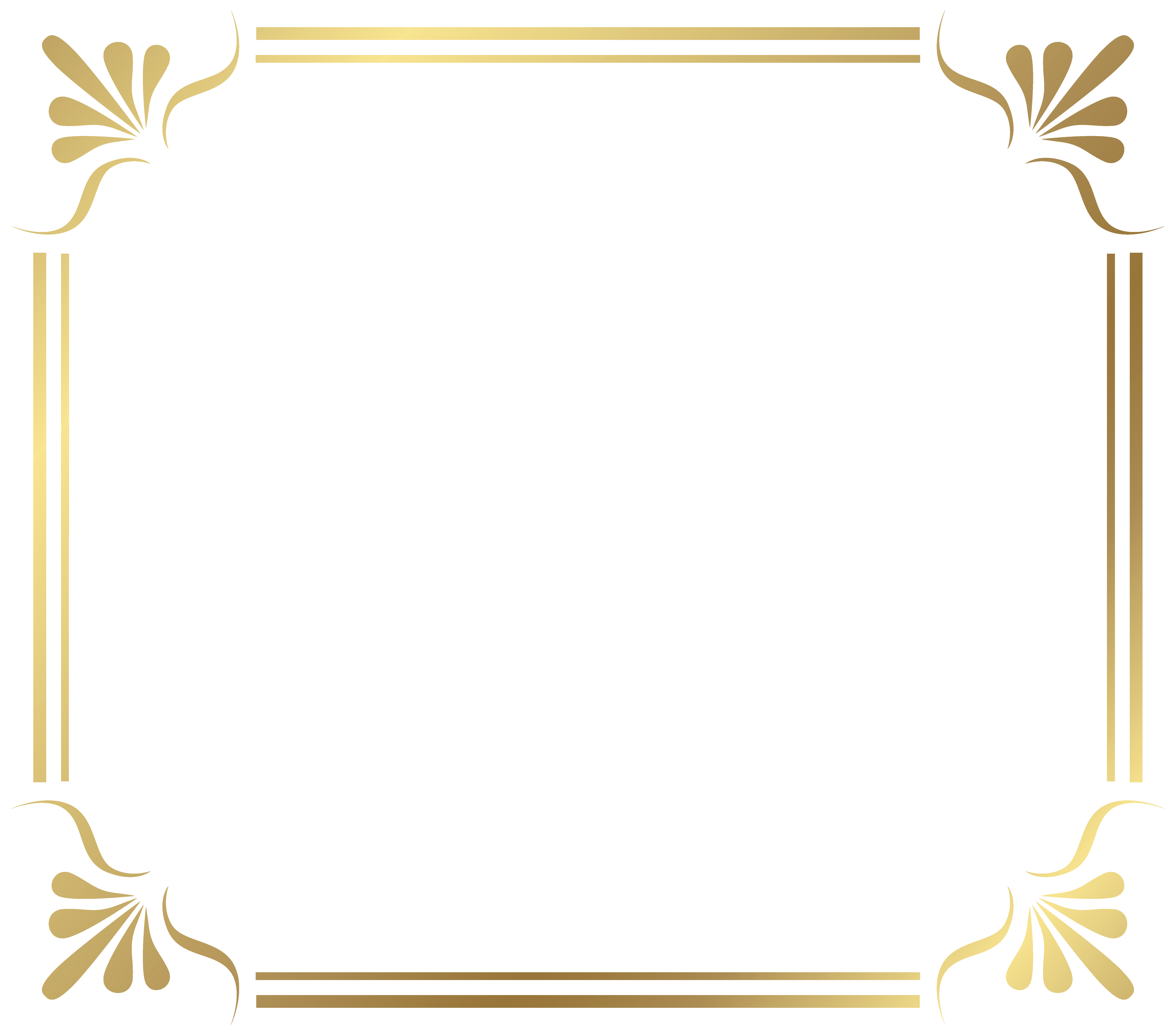 Free Gold Border Templates Fresh Gold Frame Png Transparent Free Download
