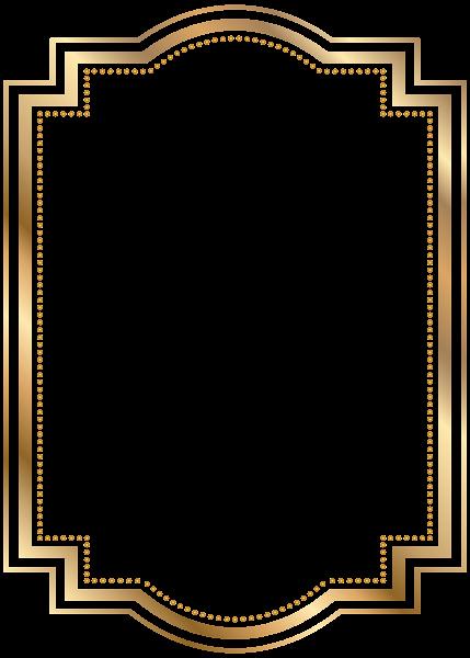 Free Gold Border Templates Lovely Border Frame Gold Transparent Clip Art