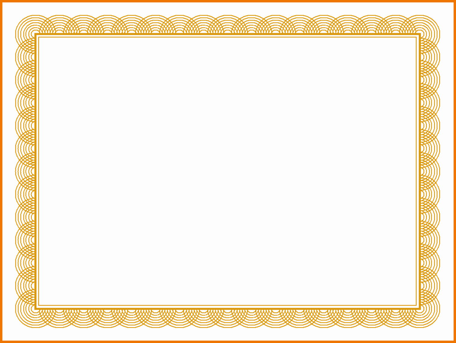Free Gold Border Templates Lovely Gold Certificate Borders Templates Free
