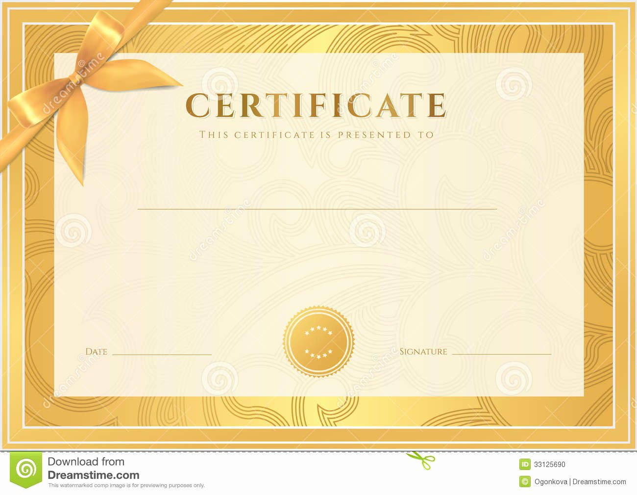Free Gold Border Templates Luxury Certificate Diploma Template Gold Award Pattern Stock