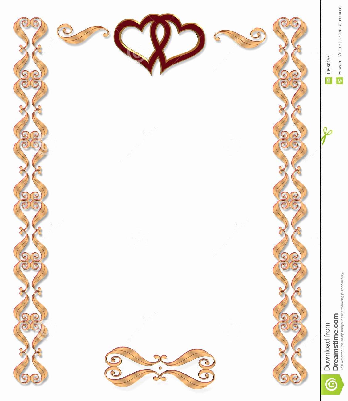 Free Gold Border Templates Luxury Wedding Invitation Border Gold Stock Illustration