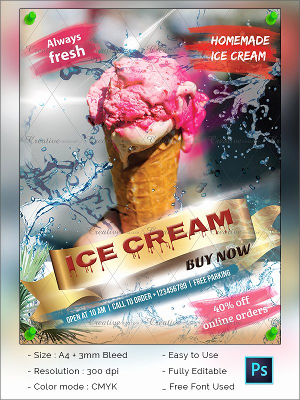 Free Ice Cream social Flyer Template Awesome 41 Ice Cream Flyer Templates Free & Premium Download