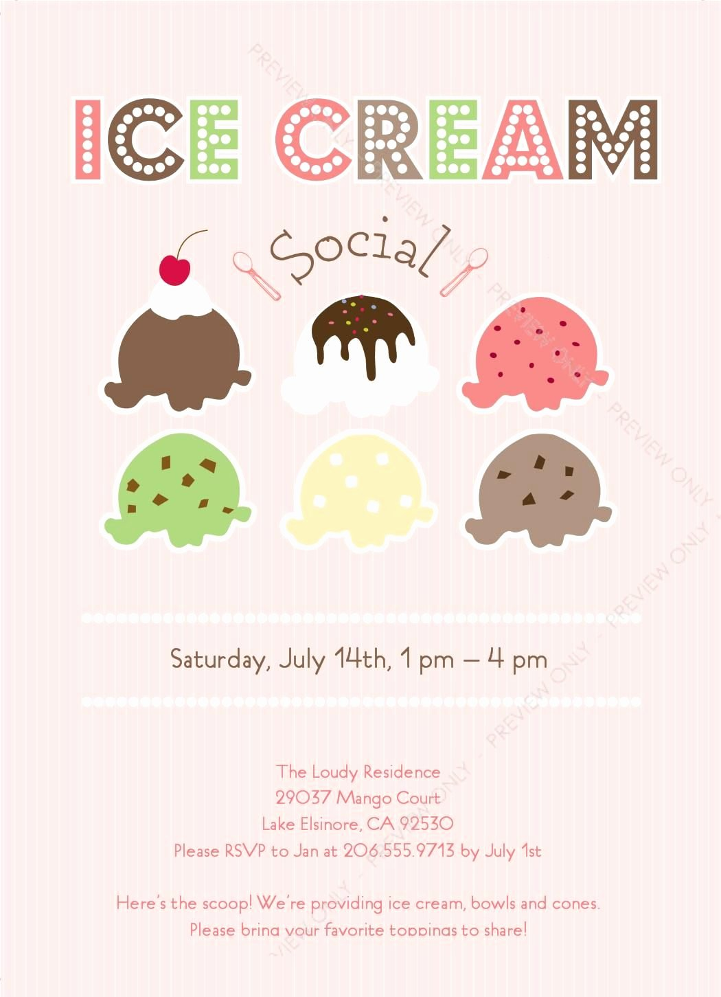Free Ice Cream social Flyer Template Awesome Ice Cream social Invitation Ice Cream Shop