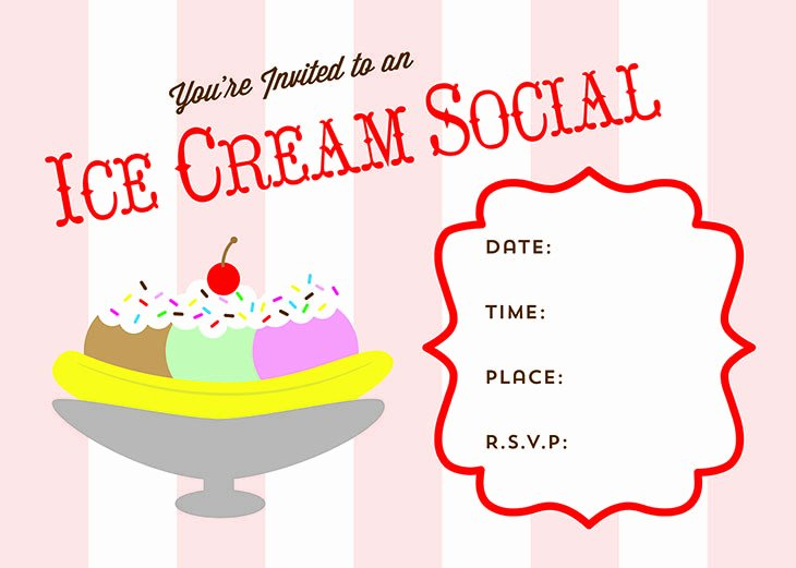 Free Ice Cream social Flyer Template Beautiful Free Printable Ice Cream social Invite Busy Mommy Media