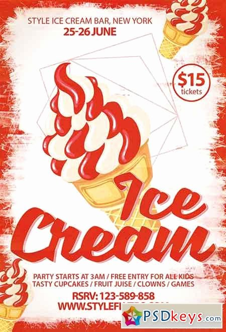 Free Ice Cream social Flyer Template Best Of Ice Cream Party Psd Flyer Template Cover Free